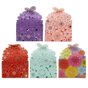 10pcs Butterfly Paper Candy Box Party Wedding Hollow Carriage Baby Shower Favors Home Festival Wedding Essential Supplies