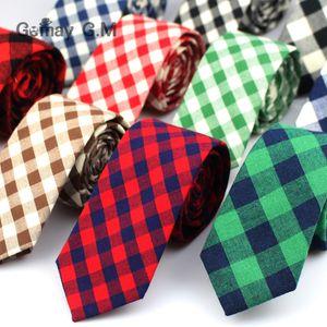 Ties For Men Fashion Casual Neck Tie Gravatas Cotton Mens Necktie for Wedding Gravata Classic Corbata Red Neckwear