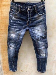 20S Mens Designer Jeans Denim Jean Black Ripped Pants Pour Hommes Men S Italy Fashion Brand Biker Motorcycle Rock Revival Jeans High Quality