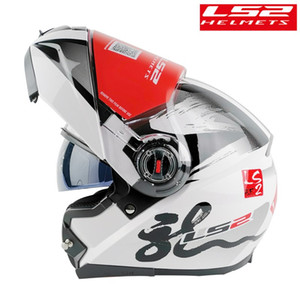 LS2 FF370 Modual helmet motorcycle With sunny dual lens for Man Woman racing capacete moto filp up motobike casco moto