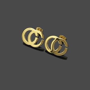 Titanium lettera G di modo dell'acciaio semplici orecchini amanti semplice regalo lettera GG orecchini