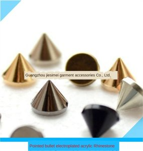 EyESs Pointed Diy accessories bullet electroplated acrylic Diamond ABS electroplated Willow nail hand-stitched Diamond DIY shoes and hats ac