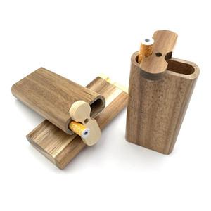Kit tubo di Dugout di un kit di tubo di Dugout Handmade Dugout di legno con scavatore alluminio One Hitter Bots Sigaretta Filtri fumatori Tubi DHB342