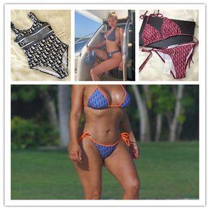 SS20 New dior Arrival Top Quality Designer Swimsuit Summer Beach Bikini Swimwear For Women Sexy Size S-XL