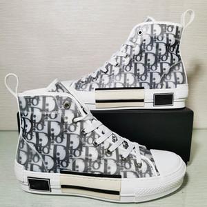 디올대화 옴므 경 X KAWS으로 킴 존스 (Kim Jones) 카니 스니커즈 높은 바구니 Chaussure 기술 캔버스 신발 바구니 농구 신발