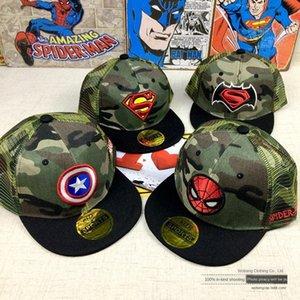 camouflage coton chapeau enfants baseball casquette Spider-Man Superman capbaseball capCaptain hip-hop Amérique cap net