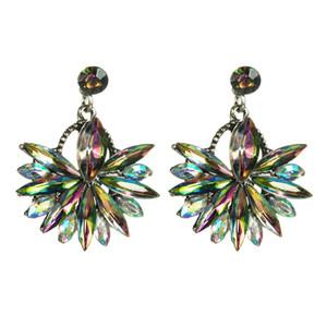 earrings fashionable temperament diamond-studded acrylic flower earrings women's fashion delicate earrings
