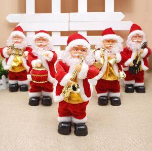 Elektrischer Weihnachtsmann Spielzeug Weihnachten Elektro Tanzmusik-Weihnachtsmann-Weihnachtspuppe für Kinder-Party-Weihnachtscartoon-Zubehör GGA3561