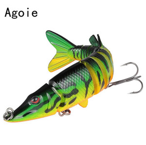 12cm 20cm Sinking Wobbler Set Crankbaits Fishing Kit Artificial Bait Hard Lure Multi Jointed Swimbait Pike Wobblers For Bass Fishing Tackle