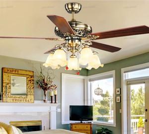 Uzaktan Kumanda ventilador De Teto LLFA Işıklar ile Işık Yatak Odası 220v Tavan Fan Ahşap Tavan Hayranları olmadan 2020 Metal Tavan Fanları