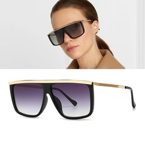 DPZ New Men's Classic Metal Flat Top Sunglasses Trend Street Shoot Modern Retro Woman Glamour Sunglasses UV400
