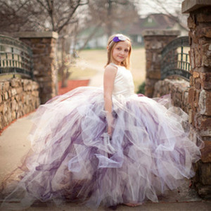 2020 New Tutu Black Baby Bridesmaid Flower Girl Wedding Dress Tulle Fluffy Ball Gown USA Birthday Evening Prom Cloth Party Dress