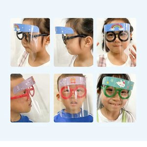 Children Safety Faceshield Transparent Full Face Cover Protective Film Anti-fog Premium PET Face Shield party Mask Head Cover Kid Gifts