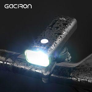 Gaciron Waterproof 800 Lumen Luz bicicleta USB recarregável MTB Road Bike Guiador Farol 2500mAh Frente Lâmpada LED