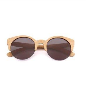 Gato nuevo semi-rimless 2017 ojo UV400 para gafas de sol de diseñador Gafas de sol de madera Hombres Bemuca Gafas de sol Mujeres Hombres Bambú Jxdhn