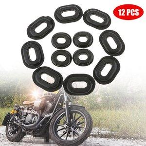 Automobiles s 12st Motorrad Gummiseitenabdeckung Grommets Dichtung Motorrad-Verkleidungen für Honda CG125 Grommet Gummi Motorrad-Zubehör