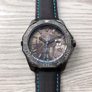 NEW 2020 Automatic mechanical movement 316 fine steel Never-abrasive sapphire glass mirror carbon fiber literal Calfskin watchband super lum