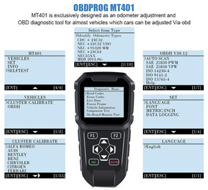 OBDPROG MT401 Mileage Adjustment Odometer Correction Tool and OBD Code Reader Odometer Reset OBD2 Code Reader Diagnostic Tool