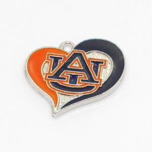 Encantos NCAA equipe Auburn Tigers Dangle Sports DIY pulseira colar de pingente encantos Jóias Suspensos