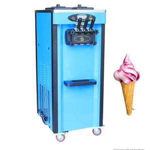 Vente machine à crème glacée molle automatique commerciale machine à crème glacée intelligente 3 Flavors Ice Cream Maker