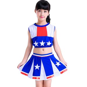 Uniformes fille Pom-pom girl pour les filles Cheer équipe Costumes Kid classe Calisthenics fille Cheerleading Uniformes enfants GameSuit