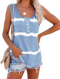 패션 여성 조끼 T 셔츠 2020 새로운 도착 여자 여름 민소매 T 셔츠 캐주얼 스트리트 여성 티셔츠 사이즈 S-3XL 외부