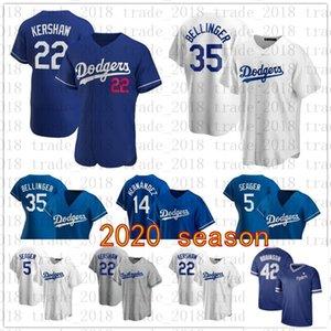 Los Angeles Dodgers 2020 Jersey Cody Bellinger Corey Seager Justin Turner Enrique Hernandez Mookie Betts Clayton Kershaw Walker Buehler 35
