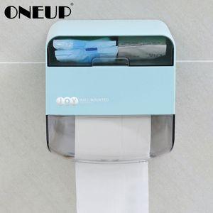 욕실 주방 휴대용 화장지 홀더 도매 방수 화장지 홀더 플라스틱 다기능 스토리지 박스