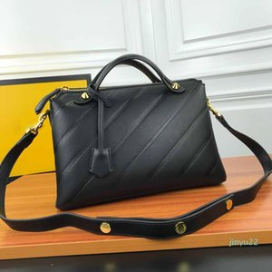 El nuevo diseñador de las mujeres clásicas de los bolsos de moda de la correa de Crossbody grandes bolsas de cuero auténtico bolsos Negro Basg de la bolsa de mensajero del monedero del totalizador del bolso 32cm