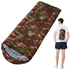 Acampar Saco de dormir, de peso ligero 4 temporada caliente en frío de sobres con mochila Saco de dormir para viajar al aire libre Senderismo