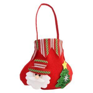 Neue Weihnachtsdekoration Weihnachtsgeschenk-Beutel-Süßigkeit-Beutel-Karikatur Bär Elk Schneemann-Form-Partei-Dekorationen