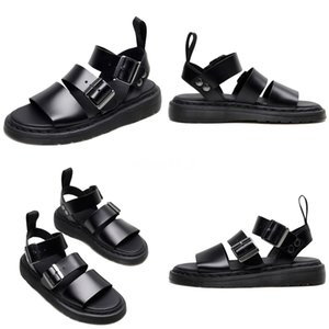 100% Genuine Leather Sandals 2020 Summer NewBreathable Antiskid Beach Shoes Special CharmShoes Large Code 35--44 T16#924
