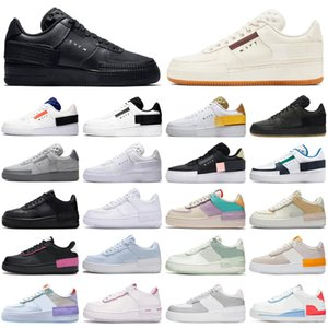 nike air force airforce forces 1 af1 shadow type n354 homens mulheres tênis de corrida triplo preto branco outdoor mens formadores sports sneakers runners