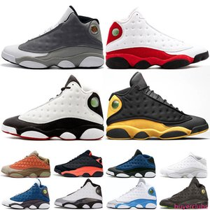 New Brand 13 Basketball Shoes 13s Mens Clot Atmosphere Grey Melo Flint Bred Black Cat DMP Wolf Grey Designer Trainer Sports Fashion Sneakers