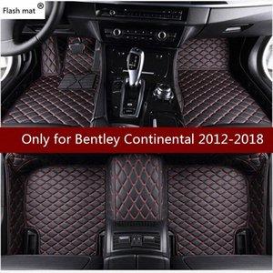 Flash tapetes tapete do carro de couro para ContinentalGT 2011 2012 2013 2014-2018 personalizado Pads pé cobertura automóvel tapete do carro Apal #