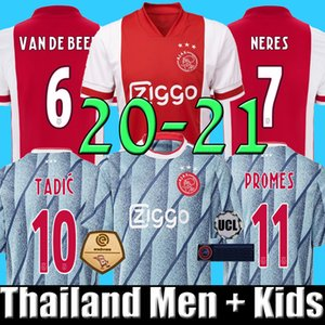 Thaïlande 19 20 21 maillot de football ajax PROMES ajax amsterdam VAN DE BEEK NERES 2020 2021 TADIC ZIYECH FOOTBALL SHIRT MEN + KIDS SETS uniforme