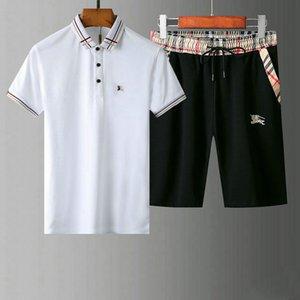 Boş Gevşek Küçük yuvarlak boyun Erkekler Kısa Jogger Pantolon erkekler yaz designe ter Eşofman tişört + şort Hedging Yaz eşofmanları Mens