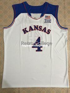 # 4 Devonte Graham Канзас Джайховкс KU Top College Basketball Джерси прошитой Швы Настройка любого размера и имя XS-6XL Vest трикотажных изделий NCAA