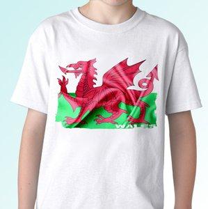 Уэльс Флаг белого футболка Top Modern Tee - Мужские Женская Камиза Tee Топы с коротким рукавом Pride Футболка Мужчины Топы Тис