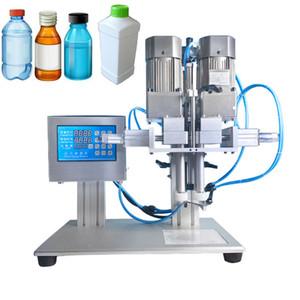 Semi automático plástico de escritorio neumática caperuzas de pulverización Tornillo Cosméticos máquina de agua de vidrio de la bebida de la botella máquina que capsula
