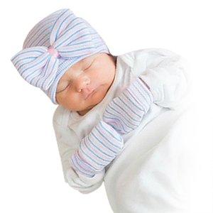 Bebê chapéu para BoysGirls infantil bowknot Malha Chapéus Luvas do bebê recém-nascido Acessórios Bonnet Beanie Hedging Presentes Cap Outdoor crianças