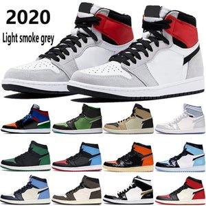1 Jumpman 1s OG chaussures pour hommes de basket-ball lumière fumée grise zoom noir vert royal élevé orteil femmes UNC hommes brevets formateurs