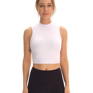 Yushuhua Slim Fit Workout Спорт Crop Top Женщины Quick Dry Бег Фитнес Vest Plain Йога Центр рукавов рубашки без колодки
