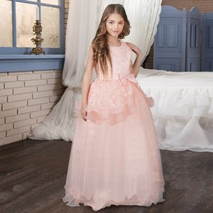 Long Kids Evening Dresses For Girls Clothing Party Wear Wedding Birthday Summer Clothes Teens Children Clothing 5 8 10 12 14T T200709