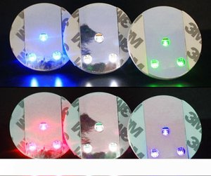 45x3mm Bar Cup LED Flashing Lights Bottle Sticker Party Light Up Wine Mat For Wedding Party Beauty