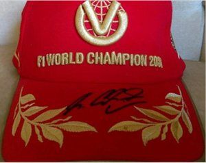 Schumacher red Signed signatured Autographed Cap hats size adjustable one size fit all