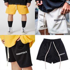 2020 Francês Primavera Outono Jacquard Letters Impressão do lado Shorts Essentials Mens alta qualidade soltas confortáveis calças de algodão mistos Grey # 758