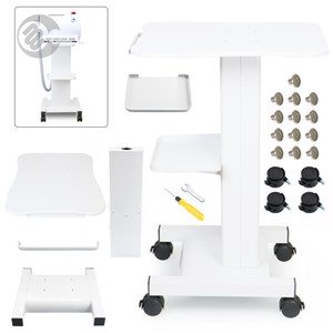 Aluminium Alloy Roller Rolling Cart Movable Trolley Standing Stand Display Tool for Cavitation RF Dermabrasion Breast Enlargement Machine