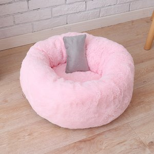 Hot style round dog kennel cat kennel fluffy cats sleep in kennel bed pet supplies