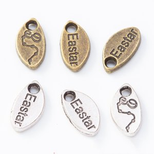 200pcs 12*6MM Antique Vintage Silver color Eastar word tag charms metal alloy pendants for bracelet necklace diy jewelry making